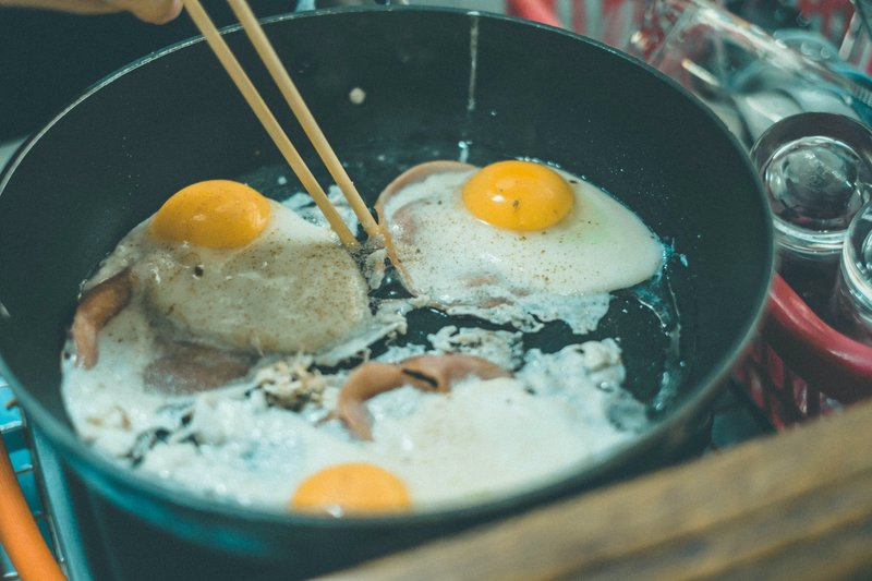 eggs, camping meal