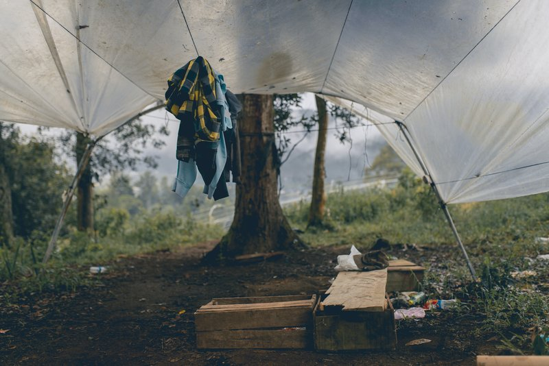 tap shelter, camping,
