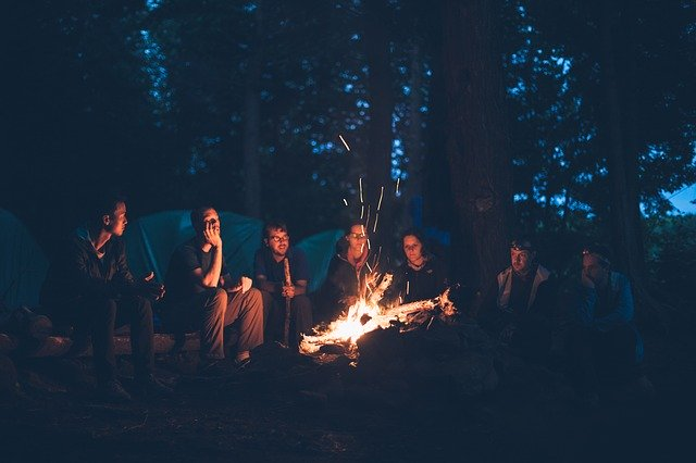 bonfire, camping, camping with kids, should you take the kids camping,