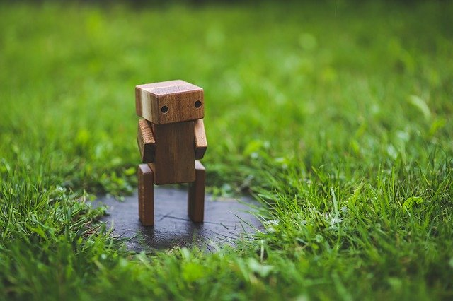 wooden robot, things to whittle while camping