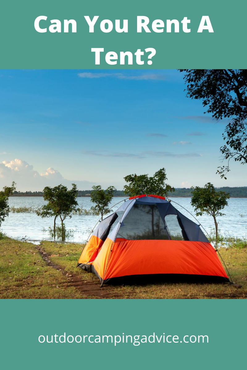 can you rent a camping tent?