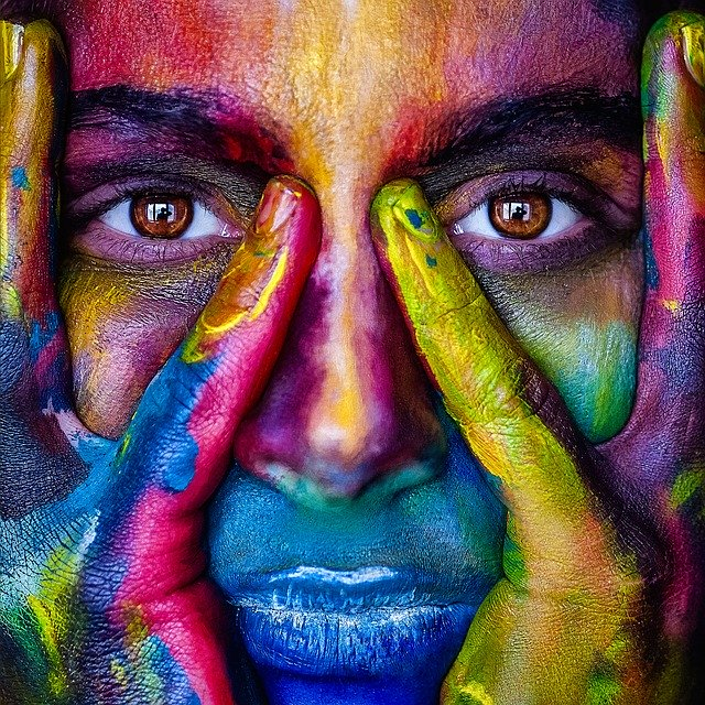 girl, Smart Travel Tips, paint, colors. facepaint, cmping, hiking, survival, travel, travel tips,