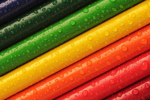 pencils, rainbow, colors, camping, outdoor, outdoors,